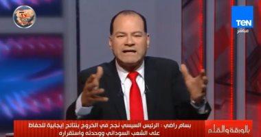 """نشأت الديهى: """"الجزيرة تحاول بث سمومها بين الشعب المصري والسودانى"""""""