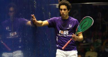 طارق مؤمن يتأهل لدور الـ 8 لبطولة الجونة الدولية للاسكواش