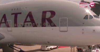 """شاهد.. """"مباشر قطر"""" تكشف خسائر الخطوط الجوية القطرية والأعطال الدائمة"""