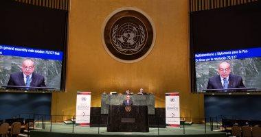 مندوب مصر الدائم بالأمم المتحدة يشدد على ضرورة محاسبة الأنظمة الداعمة للإرهاب