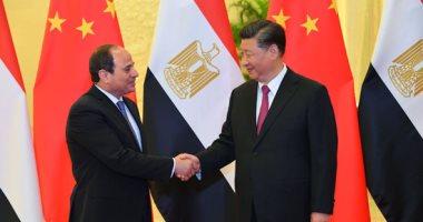 الرئيس الصينى يستقبل السيسى بقاعة الشعب الكبرى فى بكين لعقد مباحثات ثنائية