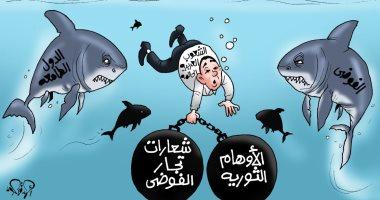 """السيناريو المصرى بعد 30 يونيو فى كاريكاتير """"اليوم السابع"""""""