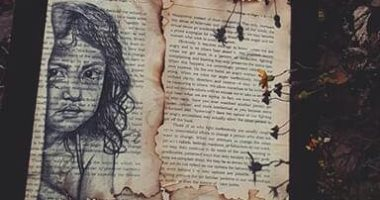 قارئ فنان يبدع فى رسم اللوحات بالفحم والرصاص ويشاركها مع اليوم السابع