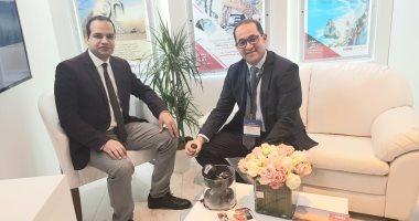 """نائب وزير المالية وأحمد يعقوب محرر """"اليوم السابع"""" فى لبنان"""