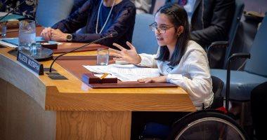 شابة سورية تدعو مجلس الأمن الدولى لعدم نسيان ذوى الإعاقة