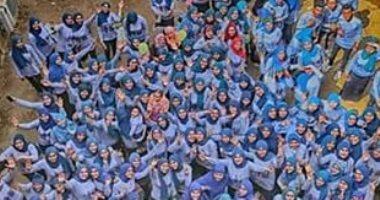 صور.. حفل كرنفالى ومهرجان ألوان فى حفل تخرج طلاب جامعة أسيوط