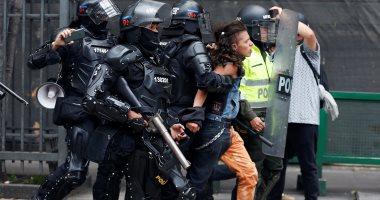 اشتباكات عنيفة مع الشرطة الكولومبية خلال إضراب ضد الحكومة