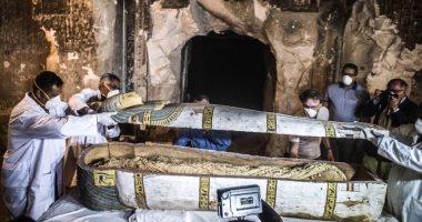 صور.. CNN تبرز الكشف الأثرى لـ 34 مومياء على الأقل فى أسوان