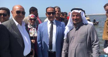 صور.. نائب وزير الزراعة ومحافظ شمال سيناء يطلقان موسم الصيد ببحيرة البردويل