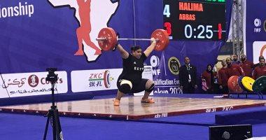 حليمة عباس تتوج بـ3 ميداليات ذهبية فى بطولة أفريقيا لرفع الأثقال