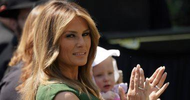 """صور.. ميلانيا ترامب تتألق بفستان أخضر فى يوم """" الصلاة الوطنى"""""""