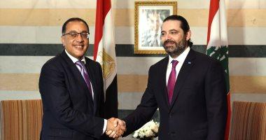 صور.. مدبولى ينقل تحيات السيسى للقيادة اللبنانية.. والحريرى يستمع لتجربة مصر فى الكهرباء