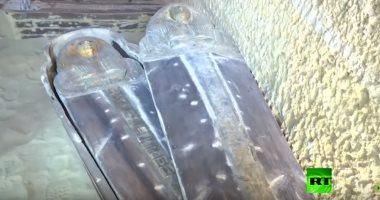 شاهد المقبرة الأثرية الجديدة المكتشفة بمنطقة الهرم