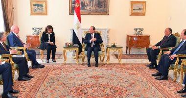 """السيسى لعضو """"بوندستاج"""": نتطلع لنقل الخبرة الألمانية إلى مصر فى عدة مجالات"""