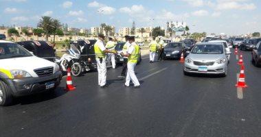 النشرة المرورية.. كثافات مرتفعة للسيارات أعلى محاور القاهرة والجيزة