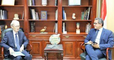 وزير الآثار يستقبل سفير اليابان بالقاهرة لبحث سبل التعاون