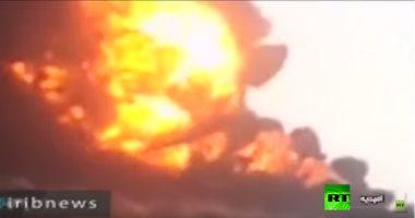 حريق ضخم فى منطقة غور الأردن