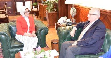 وزيرة الصحة تستقبل السفير الإيطالى لتعزيز سبل التعاون بين البلدين فى المجال الصحى