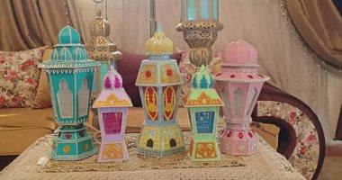 """القديم أحلى..""""محمد"""" بيعمل فوانيس من الكرتون وصمم هدية للأطفال مرضى السرطان"""