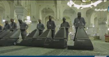 سجاد المسجد الحرام .. 40 عاما من العناية والاهتمام.. فيديو -