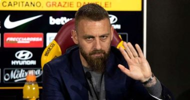 جماهير يوفنتوس تدعم دي روسي أسطورة روما خلال مباراة أتالانتا