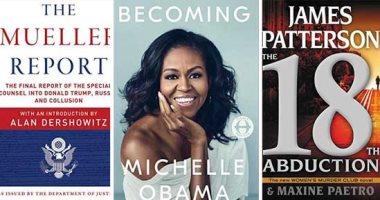 شاهد.. قائمة نيويورك تايمز لأعلى مبيعات الكتب فى أسبوع