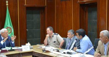 محافظ الدقهلية يستعرض ترسيم الحدود مع اللجنة العليا للتقسيم الإدارى