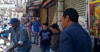سكرتير مساعد الإسكندرية يقود حملة مكبرة لإزالة إشغالات الطريق شرقا