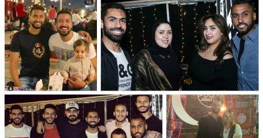 قصة صور.. نجوم الرياضة فى ليالى رمضان
