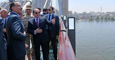 صفحة الرئيس تنشر 7 صور من افتتاح السيسى لمحور روض الفرج وكوبرى تحيا مصر