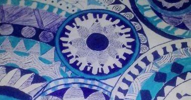 """قارئة تشارك برسومات فنية بالماندلا: """"طورت مستوايا بدون كورسات"""""""