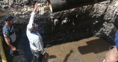 """استجابة لـ""""اليوم السابع"""".. الجيزة لمياه الشرب: استبدال الجزء المكسور من الماسورة وعودة المياه"""