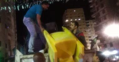 """حملة مسائية للقضاء على ظاهرة """"نبش"""" القمامة شرق الإسكندرية"""