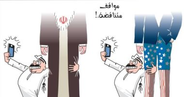 كاريكاتير.. تنظيم الحمدين بيشجع الكسبان فى أزمة أمريكا وإيران
