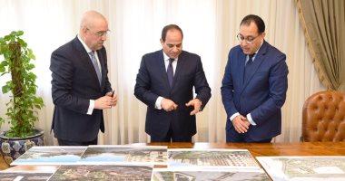 السيسى يجتمع برئيس الوزراء ووزير الإسكان لبحث الموقف التنفيذى للعاصمة الإدارية