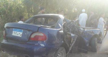 مصرع معلم ومدير مدرسة فى حادث تصادم سيارة بسوهاج
