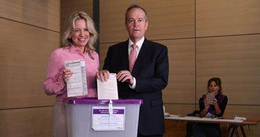 صور.. رئيس وزراء أستراليا وزعيم المعارضة يدليان بصوتهما فى الانتخابات التشريعية