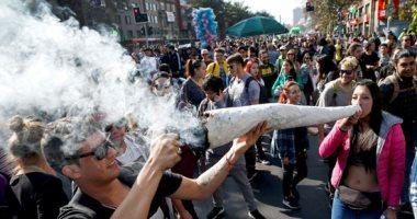 مسيرة الحشاشين..الآلاف يتظاهرون فى تشيلى للتوسع فى زراعة الماريجوانا  (صور)