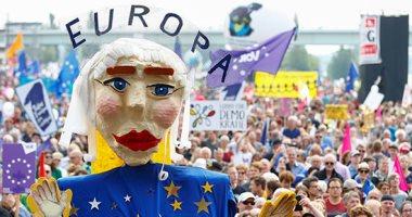 صور.. 15 ألف نمساوى يتظاهرون لتشجيع المشاركة بانتخابات البرلمان الأوروبى