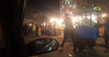 قارئ يشكو من انتشار الباعة الجائلين بمنطقة الإبراهيمية فى الإسكندرية