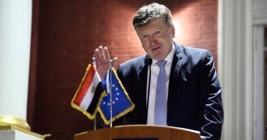 سفير الاتحاد الأوروبى بالقاهرة يتمنى التوفيق لمنتخب الفراعنة فى كأس أفريقيا