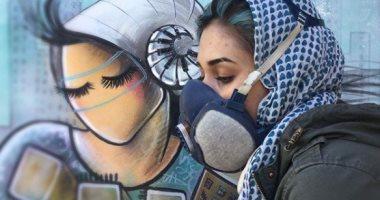 بتحارب بفرشاتها.. أول امرأة ترسم جرافيتى فى شوارع أفغانستان.. صور