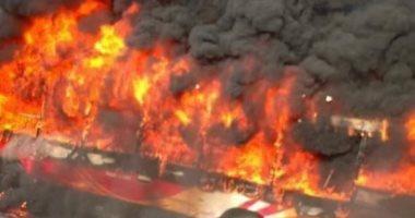 اندلاع حريق هائل بأحد المستوطنات بالقرب من غزة
