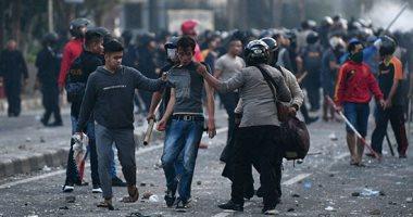الشرطة الإندونيسية تعتقل 20 شخصا فى أعمال شغب بالعاصمة جاكرتا