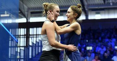 نيلي جليس تهزم شقيقتها وتصعد لربع نهائي بطولة بريطانيا للاسكواش