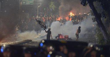صور.. تجدد الاشتباكات فى إندونيسيا احتجاجا على نتيجة الانتخابات الرئاسية