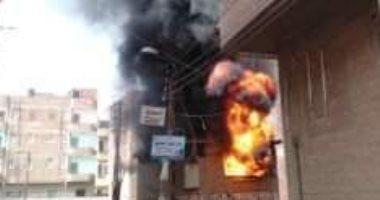 السيطرة على حريق داخل شقة سكنية فى الجمالية دون إصابات