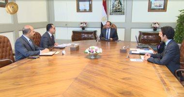 فيديو..الرئيس السيسى يجتمع برئيس الوزراء ووزيرى السياحة والاتصالات