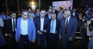 رئيس الوزراء يصل حفل تطوير مشروع حديقة الشيخ زايد بحضور نجيب ساويرس