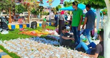 صور.. شباب كفر الشيخ ينظمون موائد الرحمن وخيمة رمضانية لفريق ألوان
